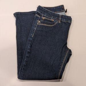 WHBM Cropped Skinny Dark Wash Blue Jeans